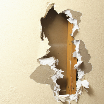 Drywall repair example