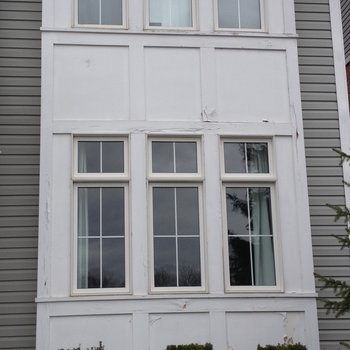 Exterior wood repair example