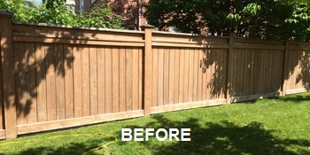 Fence Staining Before Image