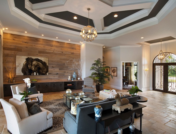 Living Room Wood Accent Feature Wall