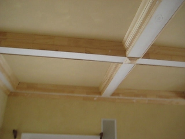 Colonial crown molding used on a ceiling