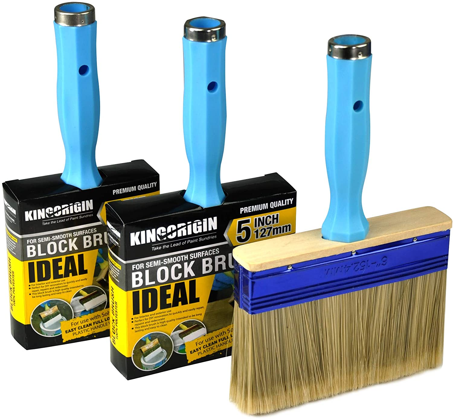 KingOrigin Heavy Duty Professional Stain Brush 3-Pack