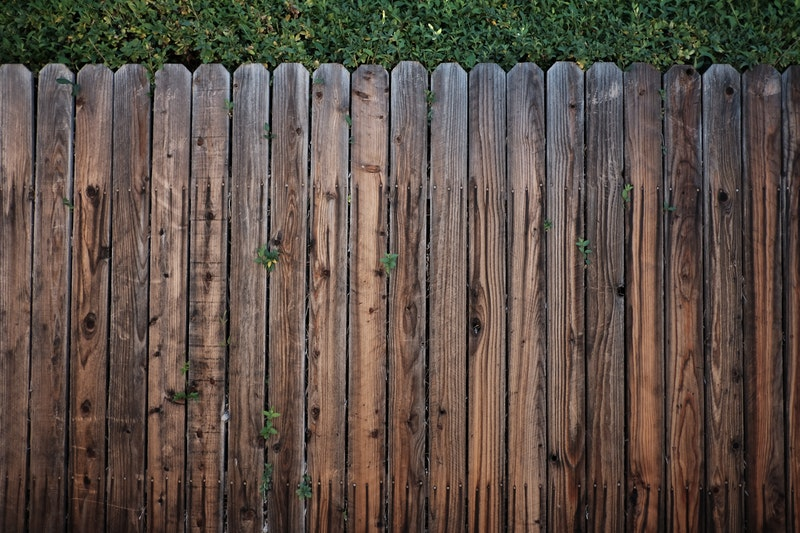 A stained wooden fence